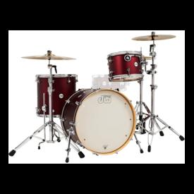 DW DROPSHIP DW Drum Workshop Design Series 3 pc Shell Pack, Crimson Satin Metallic