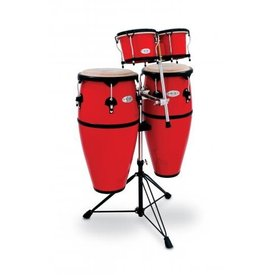 Toca Toca Percussion Synergy Series Fiberglass Conga Drums w/ Stand Red