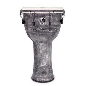 Toca Toca Freestyle 14'' Djembe X-Rim Aqua Silver w/ Bag