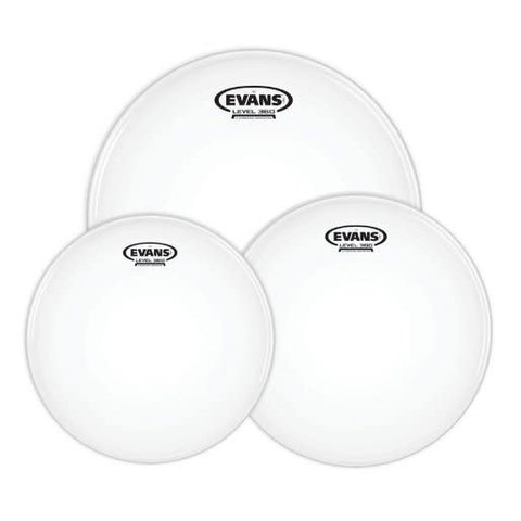 Evans G2 Tompack, Clear, Rock (10 inch, 12 inch, 16 inch)
