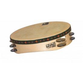 Toca Toca Wood Tambourine 10'' Double Row w/ Head
