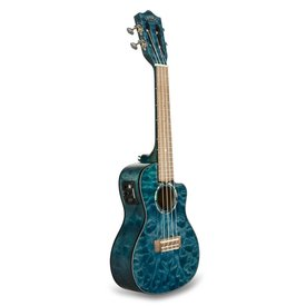 Lanikai Lanikai Quilted Maple Blue Stain Concert with Kula Preamp A/E Ukulele