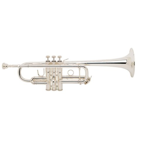 Bach C180SL229CC Stradivarius Professional C Trumpet, Silver Plated