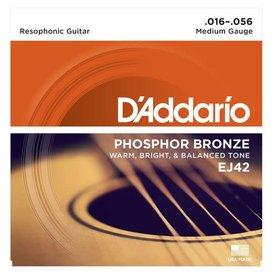 D'Addario D'Addario EJ42 Resophonic Guitar Strings, 16-56