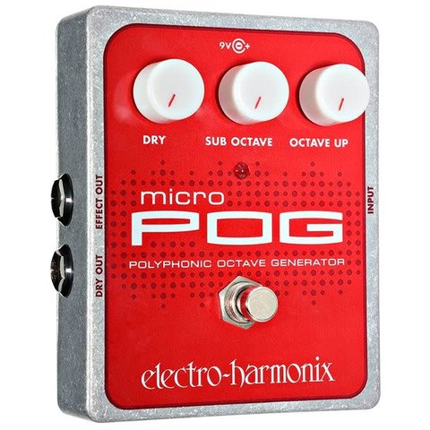 Electro-Harmonix EHX Micro POG Polyphonic Octave Generator Pedal