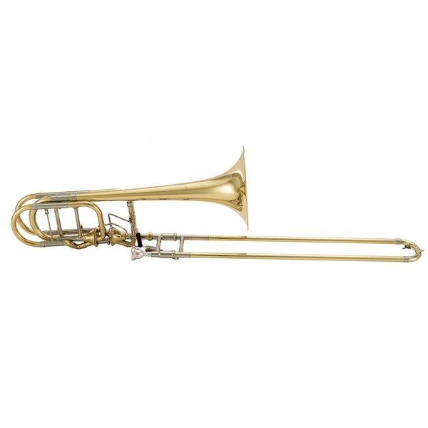 Bach Bach 50AF3G Stradivarius Pro Bb/F/Gb Bass Trombone Inf Vlv Opn Wrp Gld Brs Bll