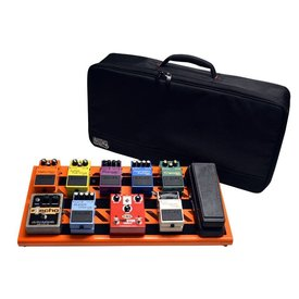 Gator Gator GPB-BAK-OR Orange Aluminum Pedal Board; Large w/ Carry Bag