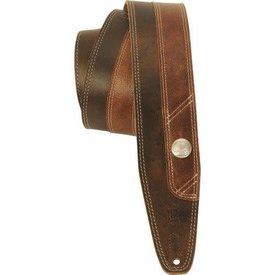 Levy's Leathers Levy's PMD4BU-DBR 2.5'' Two Tone Distressed Leather Guitar Strap