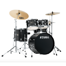 TAMA Tama IE50CBOW Imperial Star 5 Piece Kit w Cymbals, Black Oak Wrap
