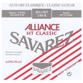 Savarez Savarez 540R Alliance Standard Tension Nylon Classical Guitar Strings, Tie-End