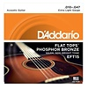 D'Addario EFT15 Flat Tops Phosphor Bronze Acoustic Strings, Extra Light, 10-47