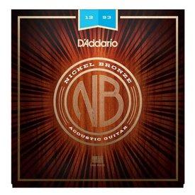D'Addario Fretted D'Addario NB1253 Nickel Bronze Acoustic Guitar Strings, Light, 12-53