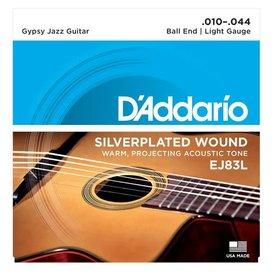 D'Addario D'Addario EJ83L Gypsy Jazz Guitar Strings, Ball End, Light, 10-44