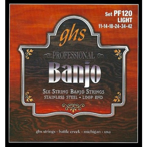 GHS PF120 SET 6 String Banjo Light