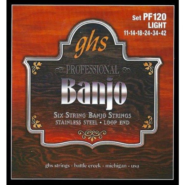 GHS GHS PF120 SET 6 String Banjo Light
