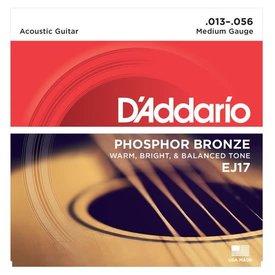 D'Addario Fretted D'Addario EJ17 Phosphor Bronze Acoustic Guitar Strings, Medium, 13-56