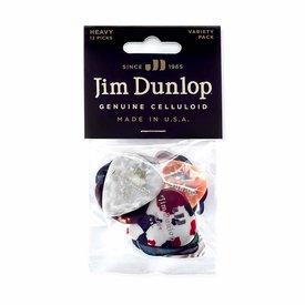 Jim Dunlop Dunlop Player's Heavy Celluloid Guitar Pick Variety Pack - 12 Pc
