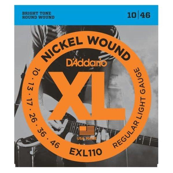 D'Addario Fretted D'Addario EXL110 Nickel Wound Electric Guitar Strings, Regular Light, 10-46