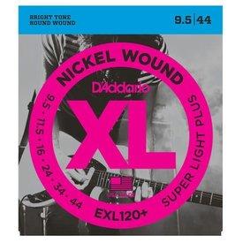 D'Addario D'Addario EXL120+ Nickel Wound Electric Guitar Strings, Super Light Plus, 9.5-44