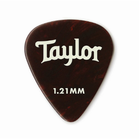 Taylor Taylor Celluloid 351 Picks, Tortoise Shell, 1.21mm 12-Pack