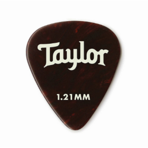 Taylor Celluloid 351 Picks, Tortoise Shell, 1.21mm 12-Pack