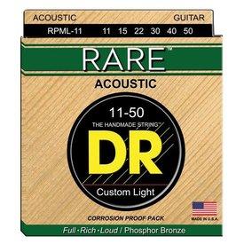 DR Handmade Strings DR Strings RPML-11 Custom Light RARE Phosphor Bronze: 11, 15, 22, 30, 40, 50