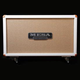 Mesa/Boogie Mesa Boogie 2x12 Recto-Horiz Guitar Cab Hot White Bronco, Celestion V30 Speakers