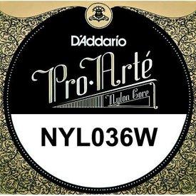 D'Addario D'Addario NYL036W Single Silver Nylon String .036