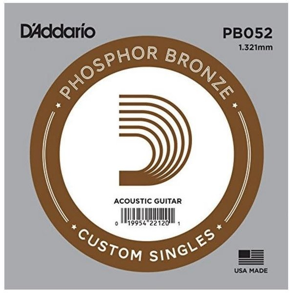 D'Addario D'Addario PB052 Phosphor Bronze Wound Acoustic Guitar Single String, .052