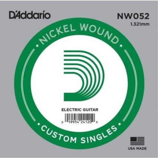 D'Addario D'Addario NW052 Nickel Wound Electric Guitar Single String, .052