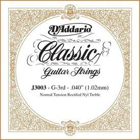 D'Addario D'Addario J3003 Rectified Classical Single String, Normal Tension, Third String