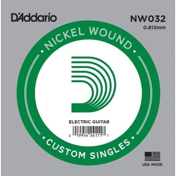 D'Addario D'Addario NW032 Nickel Wound Electric Guitar Single String, .032
