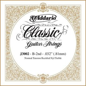 D'Addario D'Addario J3002 Rectified Classical Single String, Normal Tension, Second String