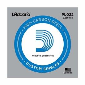 D'Addario D'Addario PL022 Plain Steel Guitar Single String, .022