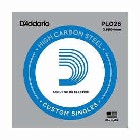 D'Addario D'Addario PL026 Plain Steel Guitar Single String, .026