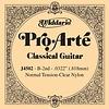 D'Addario J4502 Pro-Arte Nylon Classical String, Normal Tension, Second String B