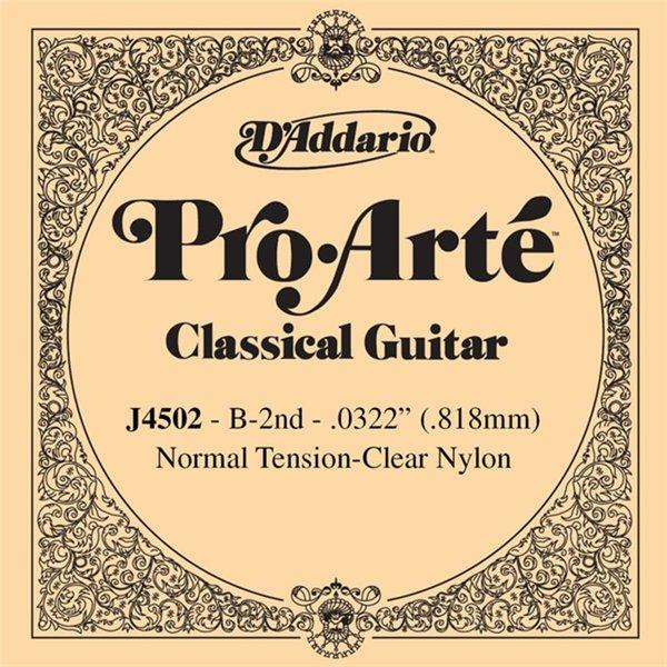 D'Addario D'Addario J4502 Pro-Arte Nylon Classical String, Normal Tension, Second String B