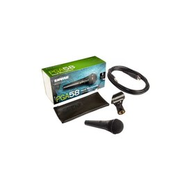 Shure Shure PGA58-QTR Vocal Microphone with 1/4'' to XLR Microphone Cable