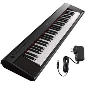 Yamaha Yamaha NP12B KIT | 61 Key Entry Level Piaggero Portable Digital Piano-Black