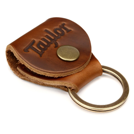 Taylor Taylor Key Ring w/ Pick Holder, Medium Brown