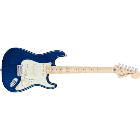 Deluxe Stratocaster, Maple Fingerboard, Sapphire Blue Transparent