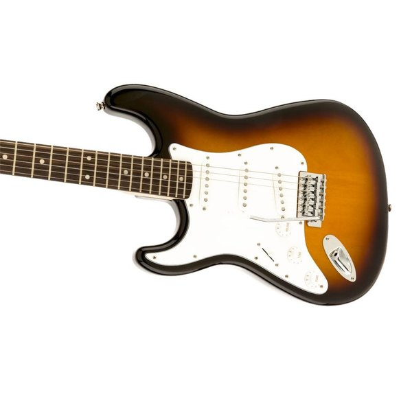 Squier Squier Affinity Series Stratocaster, Left-Handed, Laurel Fb, Brown Sunburst