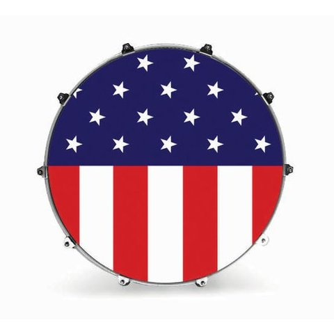"Evans 24"" Graphic American Flag"