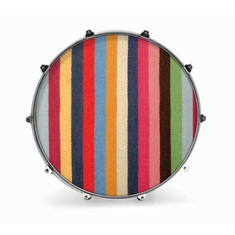 "Evans 22"" Fabric Striped Rug"