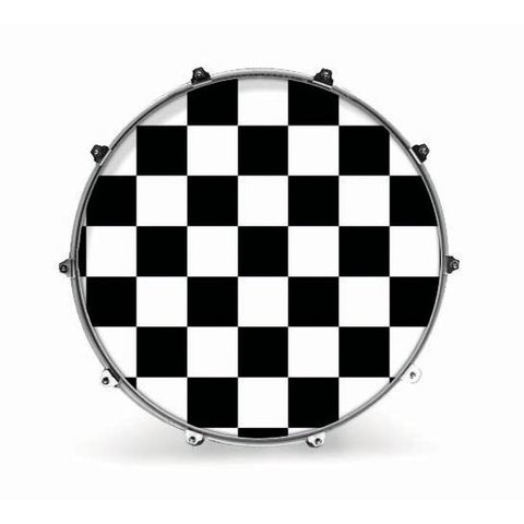 "Evans 24"" Graphic White Checker"