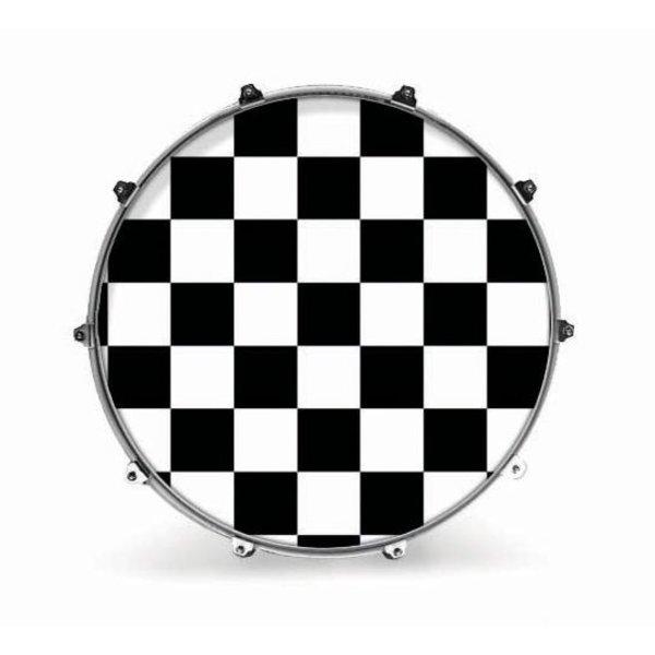 "Evans Evans 24"" Graphic White Checker"