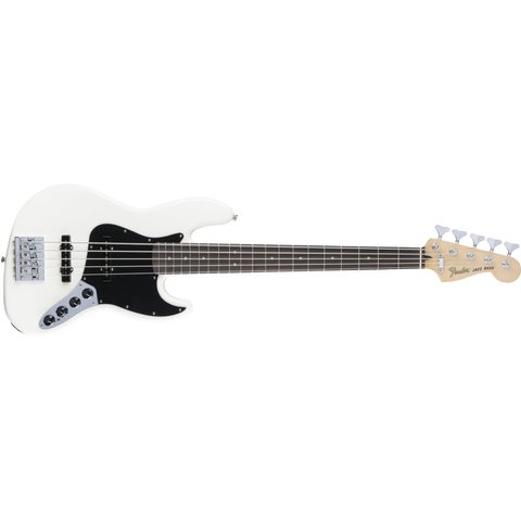 Deluxe Active Jazz Bass V, Rosewood Fingerboard, Olympic White
