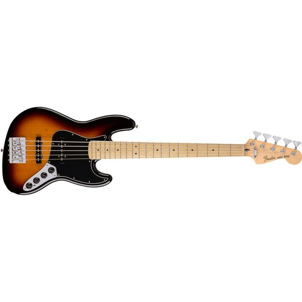 Fender Deluxe Active Jazz Bass V, Maple Fingerboard, 3-Color Sunburst