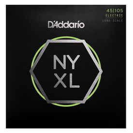 D'Addario Fretted D'Addario NYXL45105 Light Top/Medium Bottom Long Scale Nickel Wound Bass Strings - .045-.105
