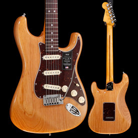 Fender Fender American Ultra Stratocaster, Rosewood Fb, Aged Natural 961 8lbs 14.3oz